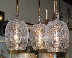 Crackle Glass Light Set Of 3 Crackle Glass Globe Pendant Lights