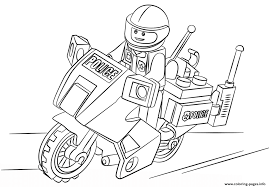 Secrets Police Car Coloring Pages Free Download Lego Moto Printable