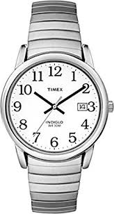 timex men s t2h451 quartz easy reader watch white dial timex men s t2h451 quartz easy reader watch white dial analogue display and silver stainless steel