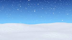 Snow Animated White Snowy Field Bright Winter Blue Sky And Beginning Of Snowfall