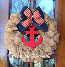 patriotic wreaths for front doorAmazoncom Patriotic wreath Burlap wreath Front door wreath