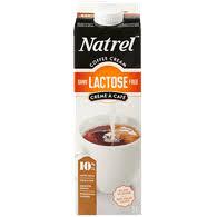 lactose free coffee cream