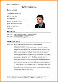Format Cv English.german Cv Template Doc 2016 Curriculum Vitae ...