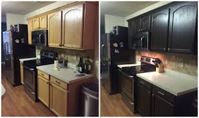Expresso Kitchen Cabinets Diy Painting Kitchen Cabinets Before And After Pics