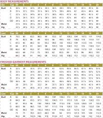 Blouse Size Chart Zamora Blouse Digital Sewing Pattern Pdf