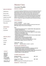 Cv Resume Sample Inspiration Accounts Payable Resume Sample Job Description Salary Example