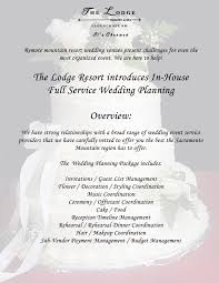 New Full Service Wedding Planning The Lodge Resort At Cloudcroft