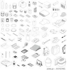 防災グッズ 防災用品のイラスト素材 30742481 Pixta