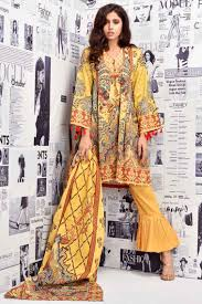 Winter Suit Design 2018 Warda Winter Collection Yellow Unstitched Khaddar Pakistani