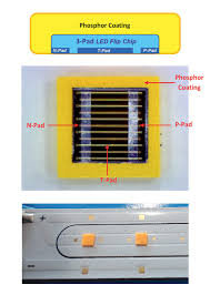 Flip Chip Package Design 3 Pad Led Flip Chip Cob Led Professional Led Lighting