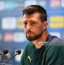 Francesco Acerbi of Italy speaks with the media during press... Foto di  attualità - Getty Images