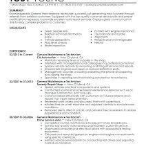 Maintenance Technician Job Description Resume Best of General Maintenance Technician Resume Fdlnews