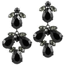 elegant black chandelier earrings
