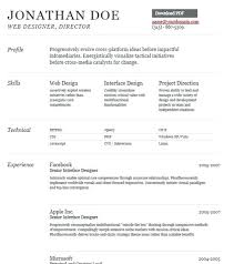 Free Beautiful Resume Templates Resume Sample Web