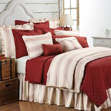 delectably yours decor prescott red stripe duvet set by hiend accents
