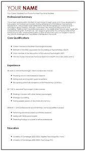 Sample Psychology Resume Psychology Researcher Sample Resume Ruseeds Co