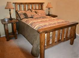 Solid Timber Bedroom Furniture Rough Sawn Pine Timber Bed Rustic Furniture Mall By Timber Creek