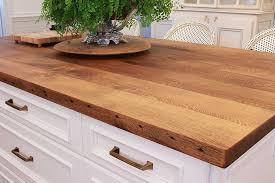 reclaimed oak kitchen island