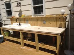 Outdoor Kitchen Sinks Outdoor Kitchen With Sink My Simple Outdoor Sink Deck