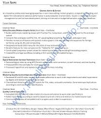 real resume examples