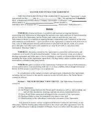 Confidentiality Agreement Free Template Subcontractor Forms Co ...