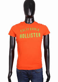 Hollister Shirt Size Chart Details About Hollister Mens T Shirt Cotton Orange Tee Size S
