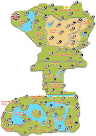 An accurate map of the wild area with dens marked : PokemonSwordAndShield