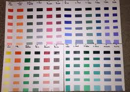 Acrylic Color Mixing Chart My First Color Chart Draw Mix Paint Forum