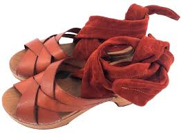 Brown Emmy Wrap Mules Slides