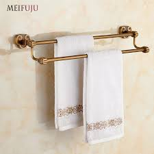 hanging towel on bar. Fine Towel Bathroom Accessories Towel Bar Holder Bath Products Rail Rails Rack  Hardware Hanging Towels Brass Double Decor Sanitary Warein Bars From Home  And On C