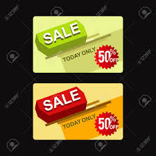 Credit Card Templates For Sale Sale 50 Card Design Vector Template Royalty Free Cliparts Vectors