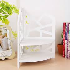 Corner Stacking Shelves New China Home Decorative Pure White Wooden Corner Shelves 32 Tiers
