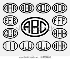 stock vector set of templates from three capital letters inscribed in a oval from wide lines of the same 618336848 set 1 template letters create monogram stock vector 261710159 on android development templates