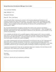 Business Development Manager Cover Letter Sample Presentation Letter For Business Development Resume Cover Insider