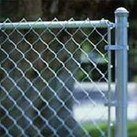 end rail clamp chain link fence. Chain Link Complete System That Includes All The Posts, Top Rail, And Hardware Required To Install. End Rail Clamp Fence