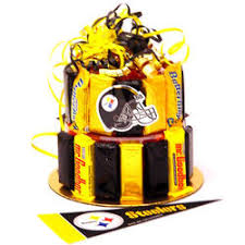 pittsburgh steelers themed candy bar cake