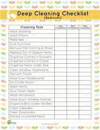 Free Printable Deep Cleaning Bedroom List Spaceships And Laser