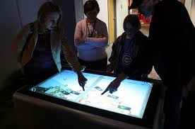 Micrsoft Table Ideum Mt2 Multitouch Table Beats Microsoft Surface In Size