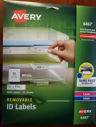 Avery 1 2 X 1 3 4 Template Avery Removable Id Labels 1 2 X 1 3 4 White 2000 Pack 6467