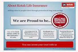 Insurance Plans Kotak Life Insurance Plans