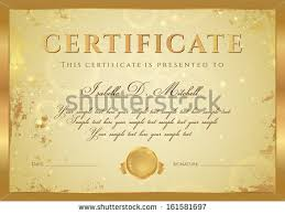 certificate completion diploma design template background stock  certificate of completion diploma design template background gold grunge old