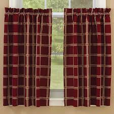 Plaid Curtains For Living Room Primitive Home Decor Country Curtains Braided Rugs Bedding And