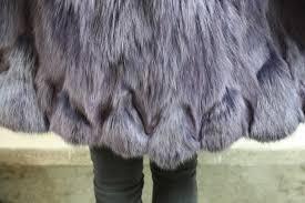 purple fox fur coat half skins