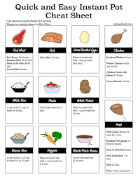 Crock Pot Time Chart Instant Pot Cheat Sheet With Instant Pot Cook Times Oh