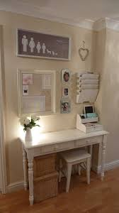 Clever office organisation 29 diy office table Decoration Tuck Narrow Desk Mini Stool And Hanging Storage Into Wide Hallway To Create Designated Spot For Paying Bills And Balancing Your Budget Pinterest 10 Clever Ways To Make Your Hallway Work Harder House Ideas