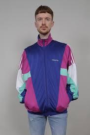 adidas vintage jacket. vintage 90\u0027s adidas blue/purple/green tracksuit jacket p