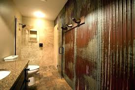 decoration corrugated metal bathroom appealing tin shower wall schedule a rugged man style bath kitchen walls shower walls