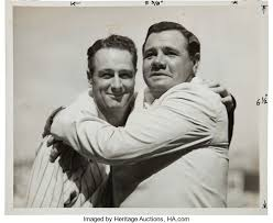 Image result for 1939 – Lou Gehrig and babe ruth