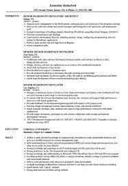 Senior Sharepoint Developer Resume Samplesvelvet Jobs Sharepoint