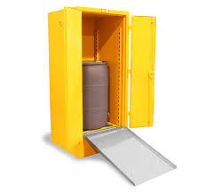 Yellow Flammable Cabinet Strong Hold Products Flammable Liquid Storage Cabinet